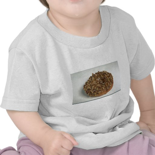 Glazed donut with nuts tee shirt