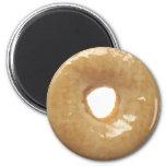 Glazed Doughnut Novelty 6 Cm Round Magnet