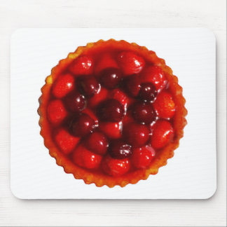 Glazed strawberry flan mouse mat