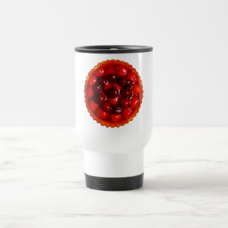 Glazed strawberry flan travel mug