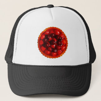 glazed strawberry flan trucker hat