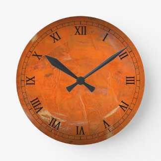 Glazed Terracotta Wallclock Roman Numerals