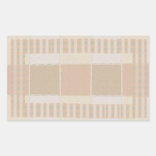 Glazed Tiles n Stripes  Silver Colour Sheet Rectangular Sticker