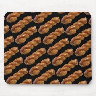 Glazed Twist Donut Mouse Mat