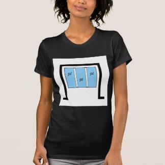 Glazed window with frame t-shirt