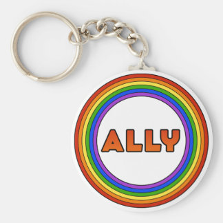 GLBT Ally Keychain (Button Style)