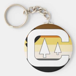 GLBT Bear Pride Camping Keychains