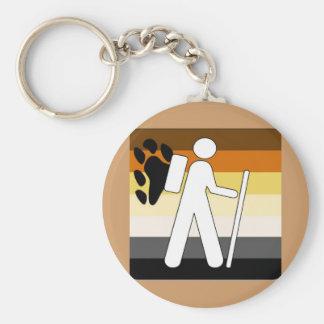 GLBT Bear Pride Hiking Basic Round Button Key Ring