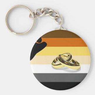 GLBT Bear Pride Marriage Key Chain