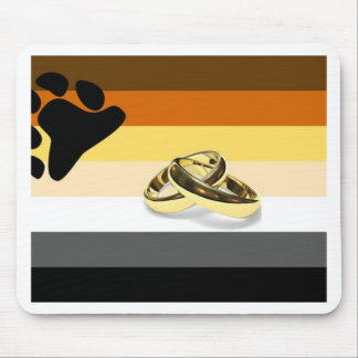GLBT Bear Pride Marriage Mouse Pad