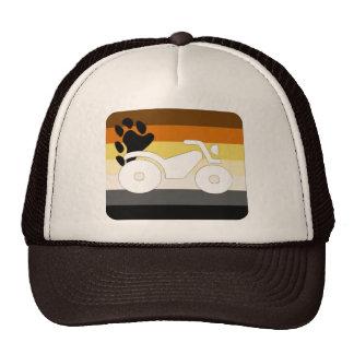 GLBT Bear Pride Motorcycle Cap Hat
