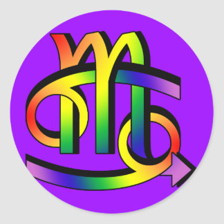 GLBT Cancer & Scorpio Classic Round Sticker