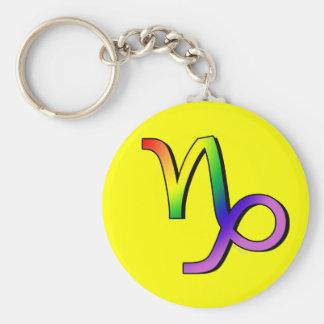 GLBT Capricorn Basic Round Button Key Ring