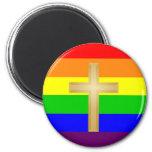 GLBT Christian Pride 6 Cm Round Magnet