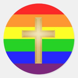 GLBT Christian Pride Round Sticker