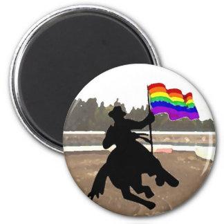 GLBT Cowboy Pride 6 Cm Round Magnet