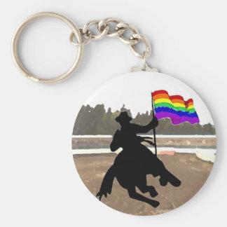 GLBT Cowboy Pride Keychain