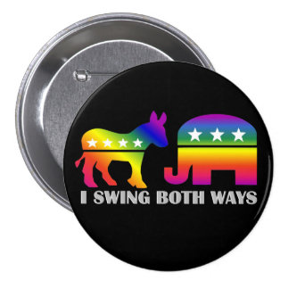 GLBT Democrat/Republican Swing Voter 7.5 Cm Round Badge