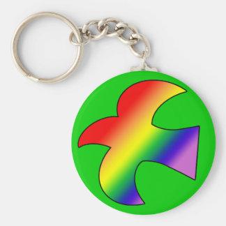 GLBT Dove Basic Round Button Key Ring
