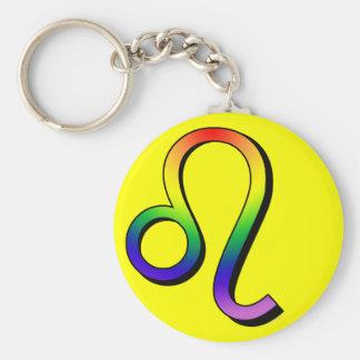 GLBT Leo Basic Round Button Key Ring