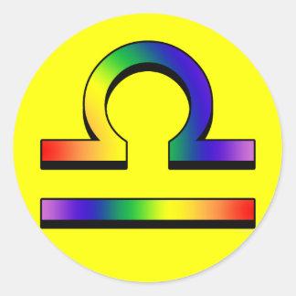 GLBT Libra Classic Round Sticker