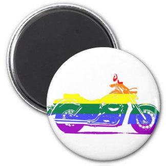 GLBT Motorcycle Pride 6 Cm Round Magnet