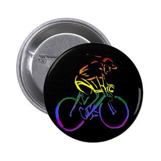 GLBT Pride Bicyclist 6 Cm Round Badge