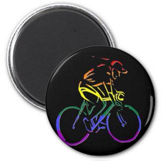 GLBT Pride Bicyclist 6 Cm Round Magnet