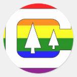 GLBT Pride Camping Classic Round Sticker