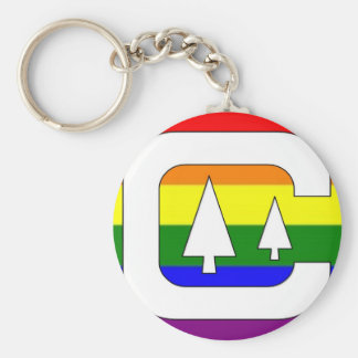 GLBT Pride Camping Keychain