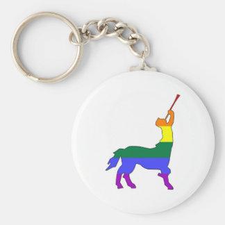GLBT Pride Centaur #1 Basic Round Button Key Ring