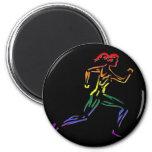 GLBT Pride Female Runner 6 Cm Round Magnet