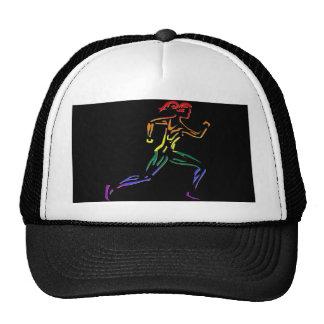 GLBT Pride Female Runner Mesh Hats