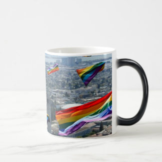 GLBT Pride Flags Over Berkeley Morphing Mug