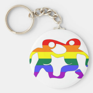 GLBT Pride: Gemini, May 22 - June 21 Basic Round Button Key Ring