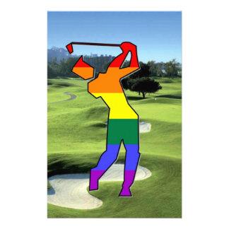 GLBT Pride Golf Stationery Design