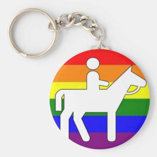 GLBT Pride Horseback Riding Key Chains