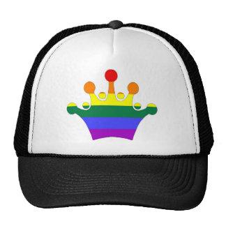 GLBT Pride Imperial Crown Mesh Hats