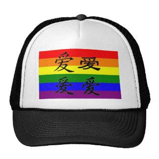 GLBT Pride in Chinese Symbols Love Hat