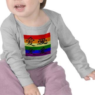 GLBT Pride in Chinese Symbols Love Tshirt