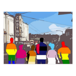 GLBT Pride People in the Castro #2 Postcard