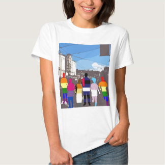 GLBT Pride People in the Castro #2 Tee Shirt