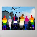 GLBT Pride People in the Castro Art Print
