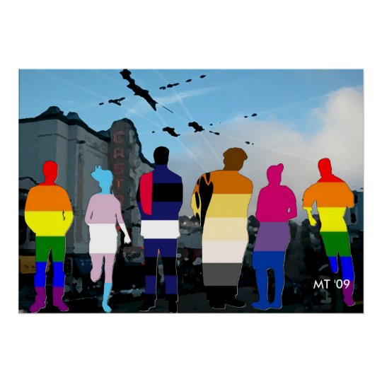 GLBT Pride People in the Castro Art Print
