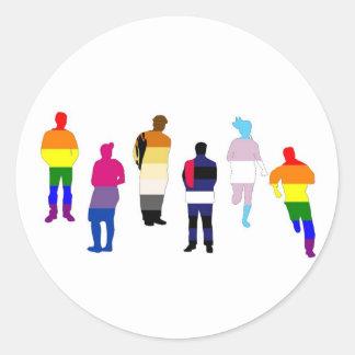GLBT Pride People Stickers