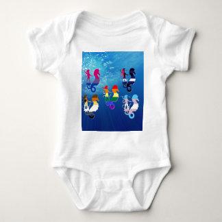 GLBT Pride School of Seahorses Baby Bodysuit