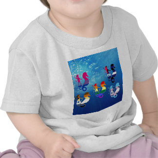 GLBT Pride School of Seahorses T-shirts