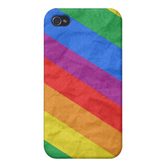 GLBT Pride Stripes 2 Covers For iPhone 4