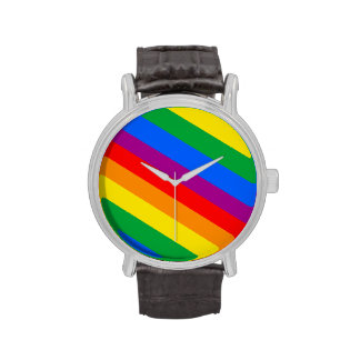 GLBT Pride Stripes 2 Wrist Watches