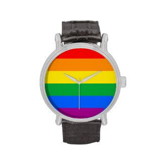 GLBT PRIDE STRIPES DESIGN -.png Wrist Watch